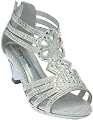 Girls Evening Sandal Rhinestone Dress-Shoes bhena03