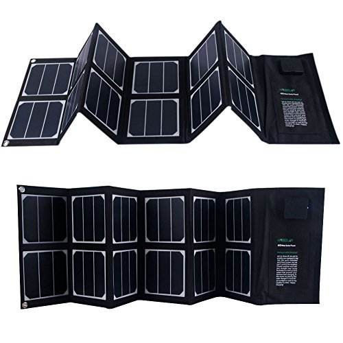 Solar Charger 40W Portable Solar Panel Foldable High Efficiency 5V USB 18V DC Dual Output Charger for Laptop Tablet GPS Cell Phone by KINGSOLAR™ (Image #2)