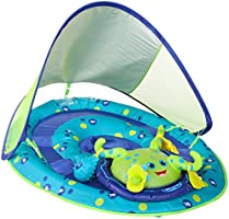 SwimWays Baby Spring Float Activity Center with Canopy - Inflatable Float for Children with Interactive Toys and UPF Sun...