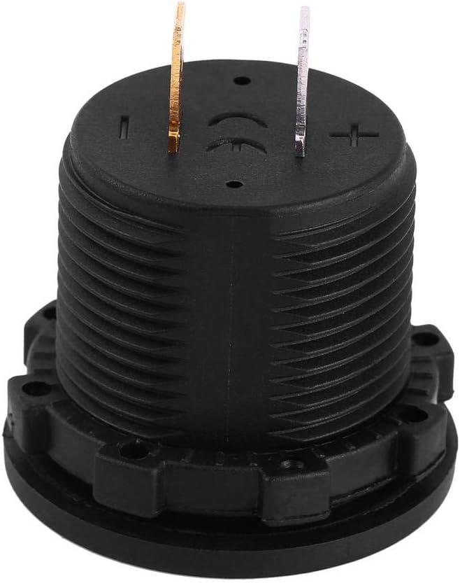 Voltmeter,Akozon 12 V Motorcycle Car LED Digital Display Voltmeter Waterproof Voltage Volt Meter Gauge Black