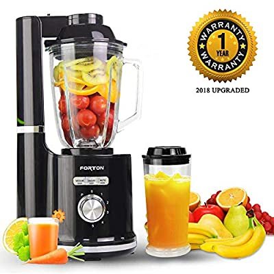 Vacuum Blender,Water fruit Blender,Multi-functional Vacuum Blender for Completely Nutrition Released, 21000RPM Smoothie Blender & Ice Crusher BPA-Free with 50oz Tritan Jar and Recipe Book, One-Click Self Cleaning Function