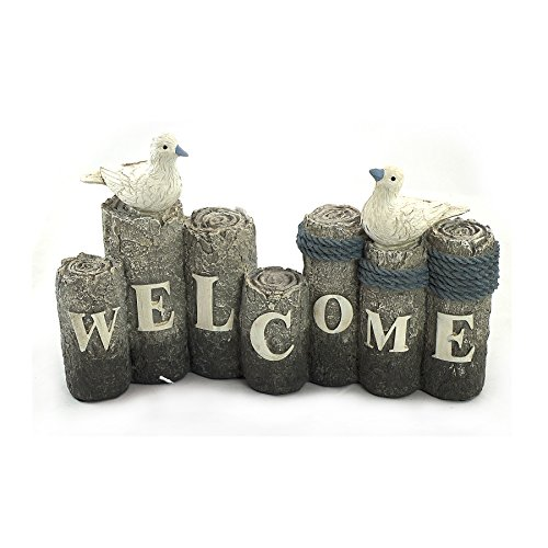 Welcome Sign Nautical (WonderMolly Beach Themed Collection Welcome Sign with Seagulls)