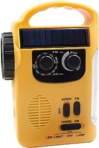 Goofly Multiple Use Solar Powered Hand Radio 5LED Flashlight 8LED Reading Light USB Charging Emergency Charger Emergency Alarm