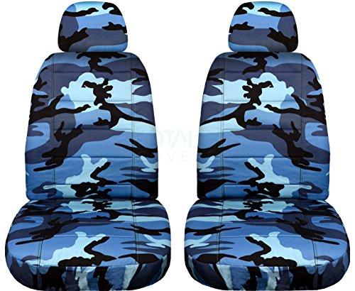 blue camo car seat covers - 1