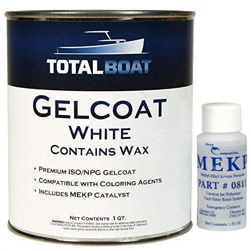(TotalBoat Gelcoat (White, Quart with Wax))