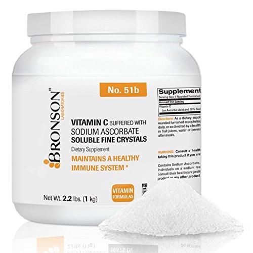 Bronson Buffered Vitamin C Crystals (1 Kilo, 2.2 Lbs, or 35.3 Ounces)
