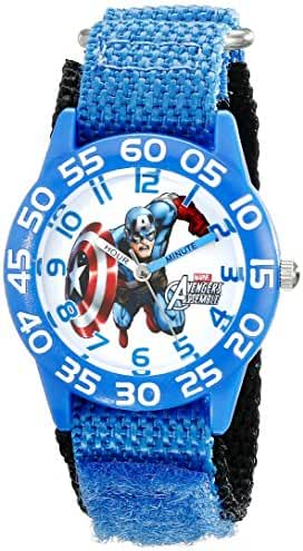 Marvel Kids' W001726 Captain America Analog Display Analog Quartz Blue Watch