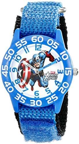 Marvel Kids' W001726 Captain America Analog Display Analog Quartz Blue Watch