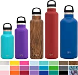12oz insulated - Simple Modern 12 Ounce Ascent Kid's Water Bottle - Vacuum Insulated Narrow Mouth Spill Proof 18/8 Stainless Steel Teal Swell Flask - Double Walled Hydro Travel Mug - Caribbean