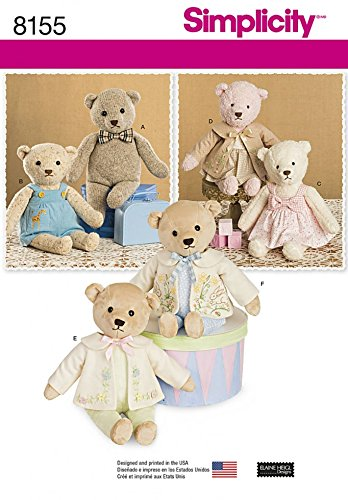 Simplicity Crafts Sewing Pattern 8155 Stuffed Bears with Clothes ...