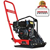 JUMPING JACK 5.5 HP Vibratory Plate Compactor Tamper for Dirt, Asphalt, Gravel, Soil Compaction Powered by Honda GX160 Engine