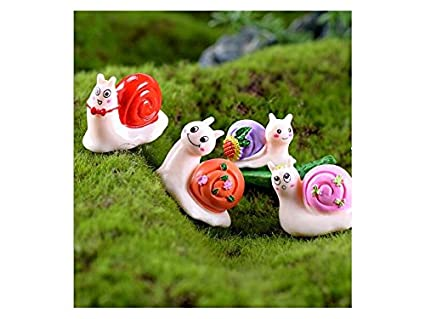 Flowerrs Jardín de Hadas Mini Resina Caracoles Forma Adornos balcón Flor jardinería Bonsai Paisaje Decoraciones de