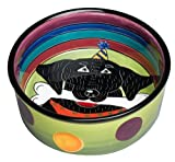Henriksen Imports Mary Naylor Large Black Lab Dog Dish