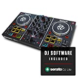 Numark Party Mix | Beginners DJ Controller Set for Serato DJ with 2 Decks, Party Lights, Headphone Output, Performance Pads and Crossfader / Mixer