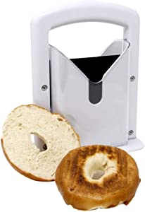 Bagel Slicer, Bagel Cutter Slicer Guillotine Bagel Guillotine Slicers Bread Cutter Evenly Slicing Auxiliary Cutting Tool for Small and Large Bagels
