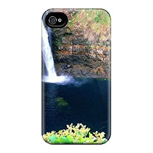 Hot Snap-on Water Landscapes Nature Waterfalls Hard Cover Case/ Protective Case For Iphone 4/4s