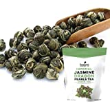 Tealyra - Imperial Jasmine Dragon Pearls - Loose Leaf Green Tea - Jasmine Green Tea with Pleasant Aroma and Tonic Effect…