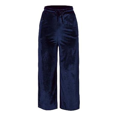 Pantalon Large Femme Taille Haute Grande Taille Pantalon Palazzo Jambe  Large Tout Droit Loose Velours d 7d40e3650fa