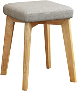 YADSHENG Vanity Stool Vanity Stool,Modern Makeup Dressing Stool with Padded Seat,Padded Bench with Wood Legs Vanity Benches (Color, Size : 32x32x75cm)