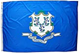 Annin Flagmakers Model 140770 Connecticut State Flag 4×6 ft. Nylon SolarGuard Nyl-Glo 100% Made in USA to Official State Design Specifications.
