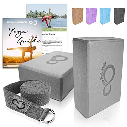 Premium Yoga Blocks & Metal D Ring Strap Yogi Set