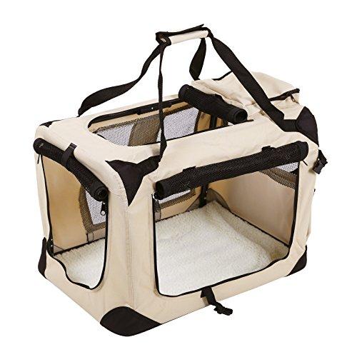 Songmics Hundebox faltbar Oxford Gewebe Maße auswählbar - S 50 x 35 x 35 cm PDC50W