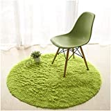 Lee D.Martin Children Area Rugs Ultra Cozy Round Rugs Kids' Room Décor Carpets Modern Shaggy Area Rugs Anti-Slip Backed Home Décor Rug,Diameter 47.3 inches,Green