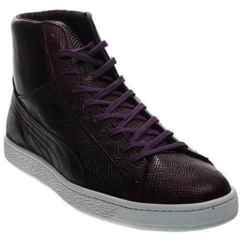 PUMA Men's States Mid MII Hightop Sneaker, Italian Plum/White, 10 M US