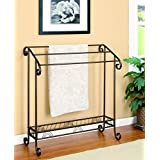 Coaster Home Furnishings 900833 Freestanding Towel Rack, Dark Bronze Finish