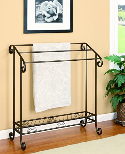 Coaster Home Furnishings 3-Tier Towel Rack Dark Bronze