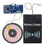 diy wireless charging module - Qi Standard DIY Transmitting PCB + DC Receiving Module Charging Set Black
