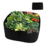 Asunflower Raised Gardening Beds, Fabric Veggies Planter Grow Bag, 3 by 3 Feet