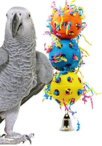 1088 BONKA BIRD TOYS Stuff Balls Toy parrot cage toys cages african grey amazon -