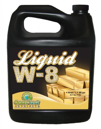 Green Planet Nutrients - Liquid W-8 (4 Liters) | Complex Blend of Organic Enzyme Activators, Vitamins, Essential Amino Acids and Unique Carbohydrates - Maximize Your Plants Yield During Flowering!