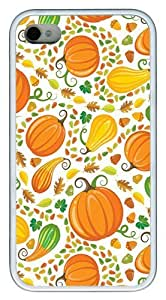 Autumn Harvest PC hard Case Cover for iPhone 4 and iPhone 4s ?¡ìC White
