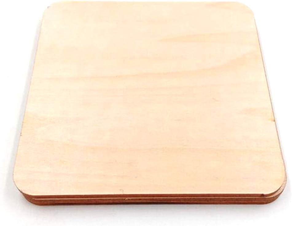 F Fityle Nat/ürliche H/ölzerne Holzscheiben Holzpl/ättchen Holz Platten Plakette 100pcs