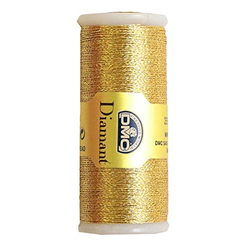 DMC Diamant Metallic Needlework Thread, 38.2-Yard, Light Gold (Gold Metallic Thread)