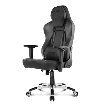 AKRacing Office Series Obsidian Ergonomic Computer Chair with High Backrest, Recliner, Swivel, Tilt, Rocker and Seat Height Adjustment Mechanisms with 5/10 warranty - Carbon Black: Kitchen & Dining