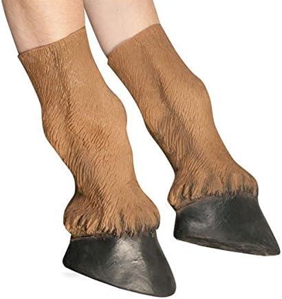 FATO. Los guantes de látex del traje de Halloween para adultos Enganches del caballo Prop