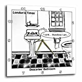 Londons Times Funny Society Cartoons – Descartes Bathroom – 10×10 Wall Clock (dpp_1662_1) Review