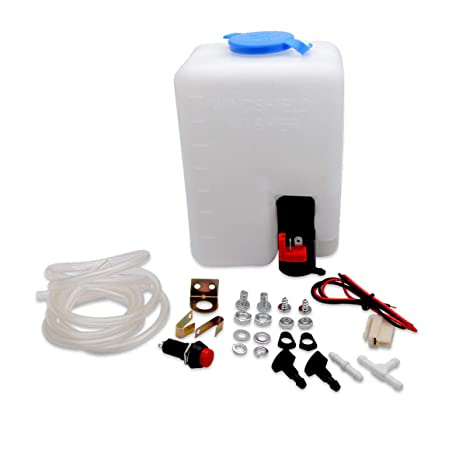 Sensational Amazon Com Universal Windscreen Washer Bottle Kit With Pump Hose Wiring Cloud Hisonuggs Outletorg