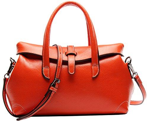 Body Bags Totes Top Handle Satchel Bag Shoulder Handbags Heshe Pocket Handbag Orange Leather Size Grain Small Top Cross 7pxSH