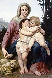 The Holy Family, by William Bouguereau, 44x66-inch Canvas Giclée, Gallery Wrap, Museum Size