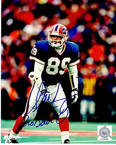 Image Unavailable. Image not available for. Color  Steve Tasker Signed - Autographed  Buffalo Bills ... 1dab79494