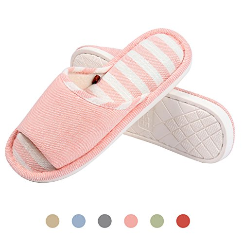 Moodeng House Slippers Women Men Home Indoor Shoes Lightweight Slide Washable Non-Slip Slipper by Pink K5duTBVcB