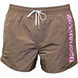 DSquared2 Sports Logo Men's Swim Shorts, Taupe X-Large Taupe