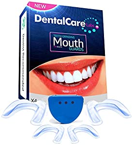 DENTALCARE LABS Anti Grinding Teeth Custom Moldable Dental Night Guard, Stops Bruxism,Tmj & Eliminates Teeth Clenching.Pack of 4 Guards in 2 Sizes for Custom Fit-BPA Free!!! by DentalCare Labs