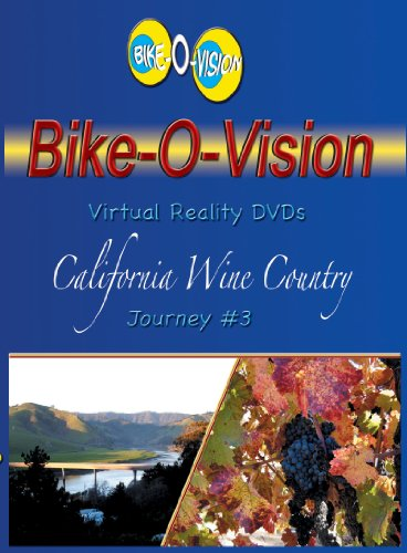 Bike-O-Vision - Virtual Cycling Adventure - California Wine Country - Perfect for Indoor Cycling and Treadmill Workouts - Cardio Fitness Scenery Video (Fullscreen DVD #3)