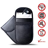 Hismo 2 PCS Upgraded Car Key Signal Blocker Case,Car RFID Signal Blocking, Anti-Theft Pouch, Anti-Hacking Case Blocker,Car Key Protector WiFi/GSM/LTE/NFC/RF Blocker