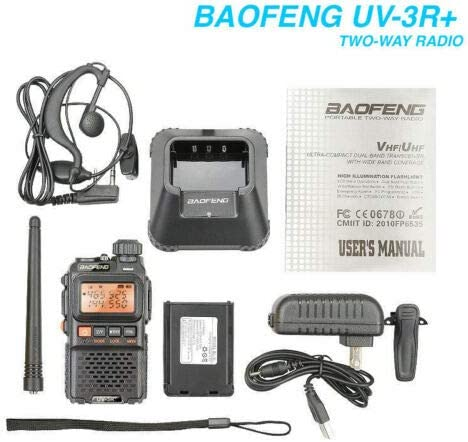 MINI UV-3R+Plus Walkie Talkies Dual band UHF//VHF Ham CTCSS Two-Way Radio